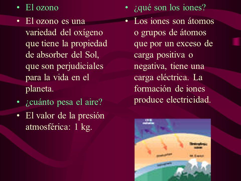 El ozono El ozono es una variedad del oxígeno que tiene la propiedad de absorber del Sol, que son perjudiciales para la vida en el planeta.