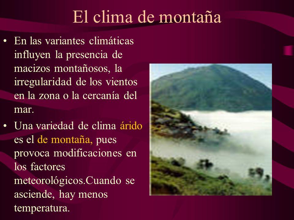 El clima de montaña