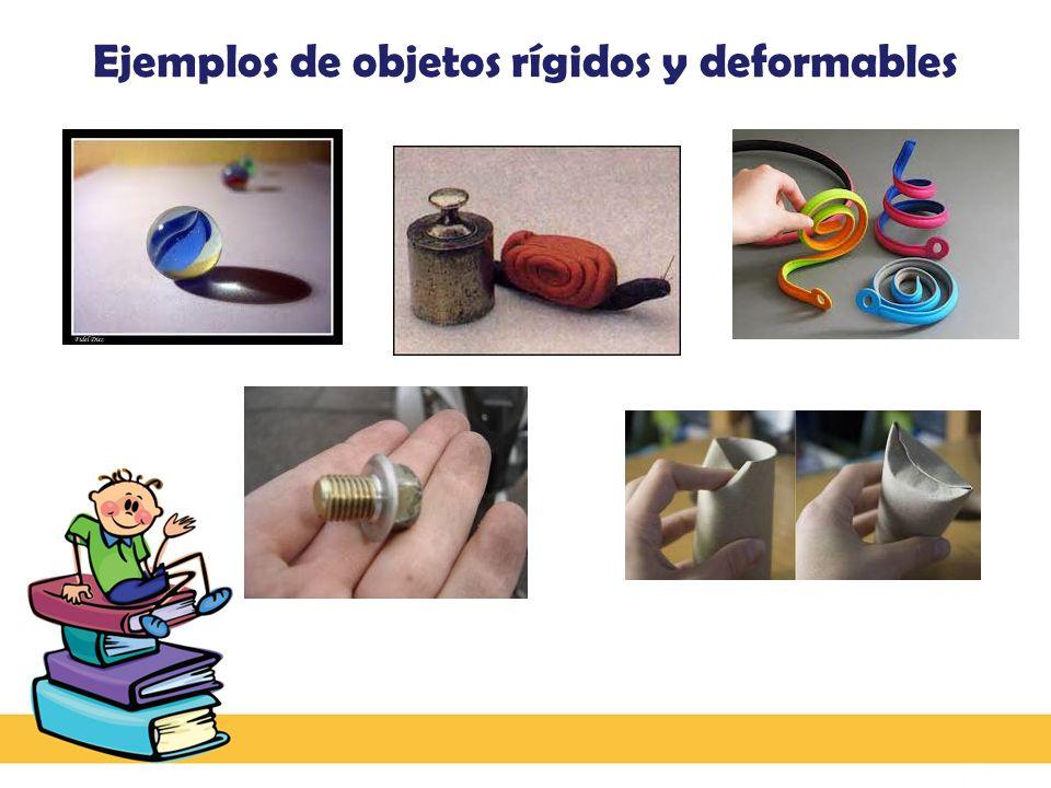 Ejemplos de objetos rígidos y deformables