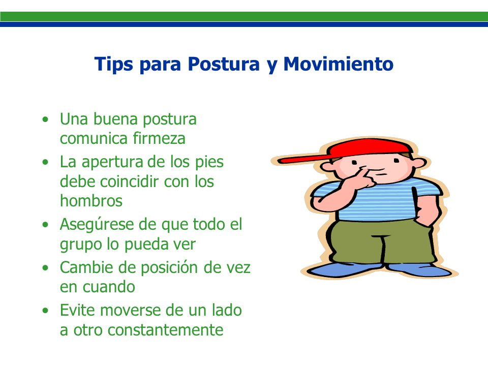 Tips para Postura y Movimiento