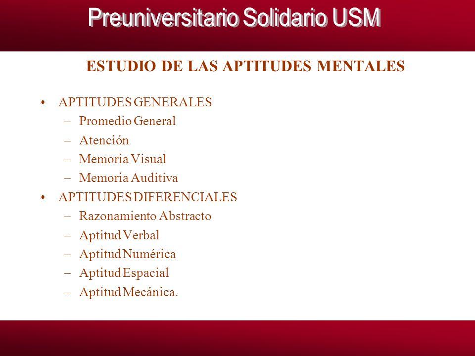ESTUDIO DE LAS APTITUDES MENTALES