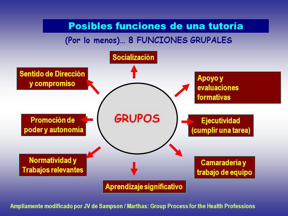 Posibles funciones de una tutoría