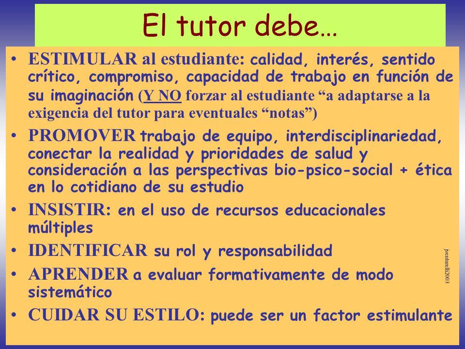 El tutor debe…