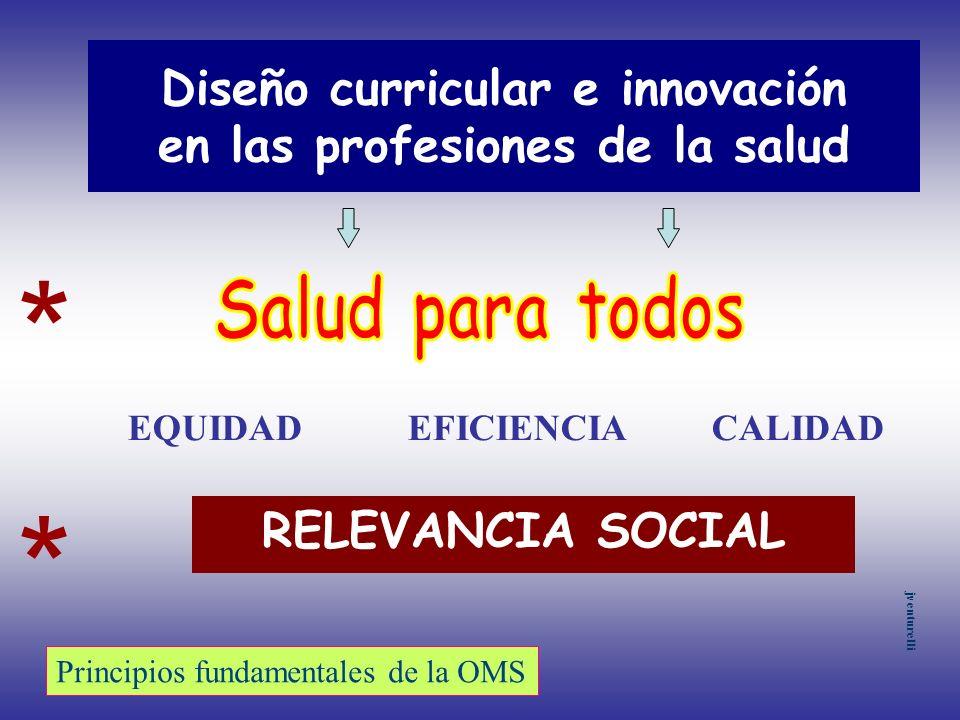 Diseño curricular e innovación en las profesiones de la salud