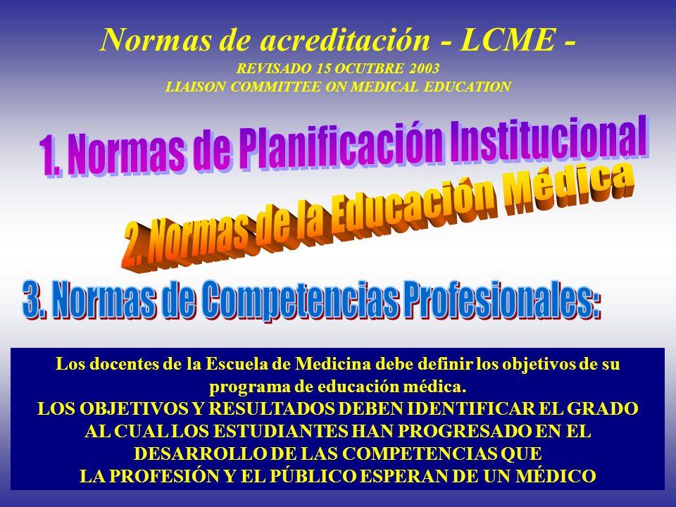 1. Normas de Planificación Institucional