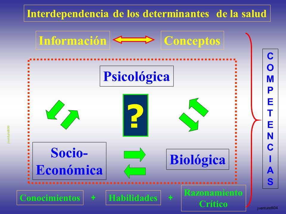 Interdependencia de los determinantes de la salud