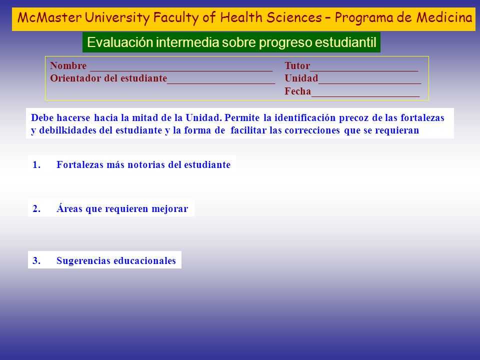 McMaster University Faculty of Health Sciences – Programa de Medicina