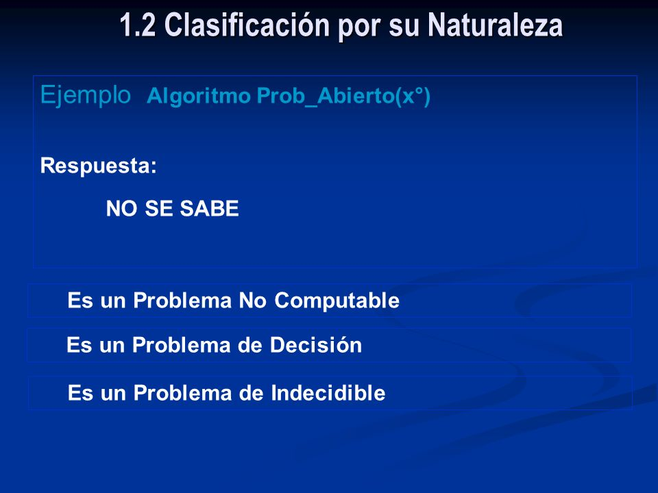 1.2 Clasificación por su Naturaleza