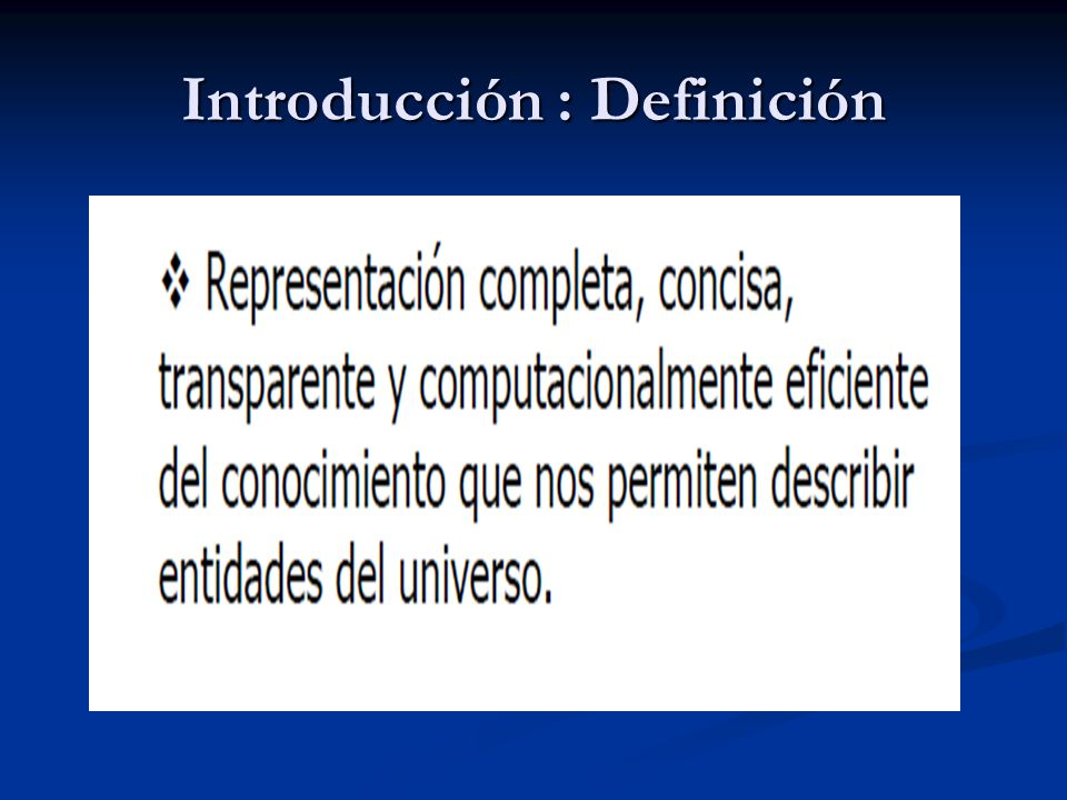 Introducción : Definición