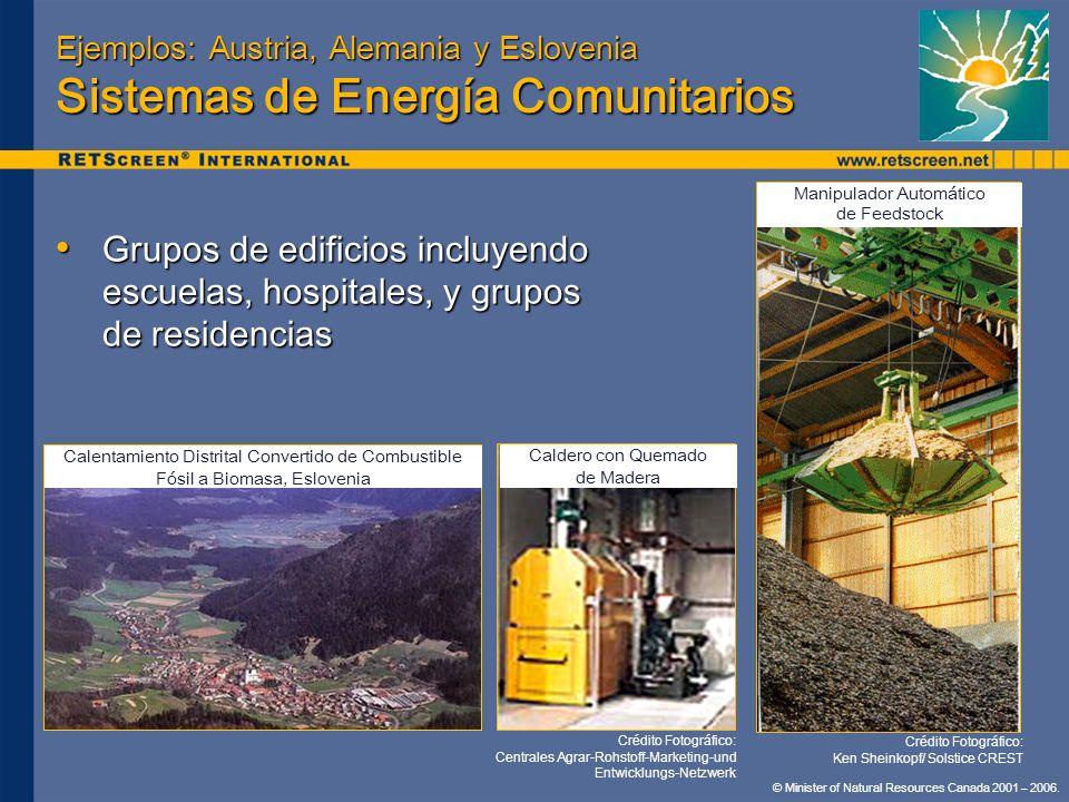 Ejemplos: Austria, Alemania y Eslovenia Sistemas de Energía Comunitarios