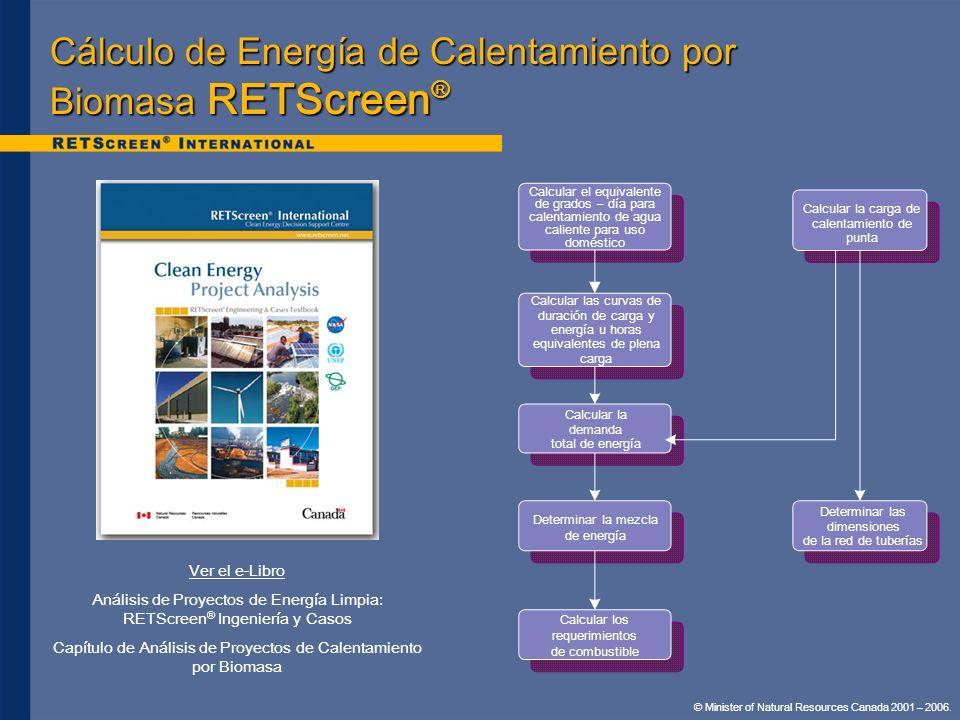 Cálculo de Energía de Calentamiento por Biomasa RETScreen®