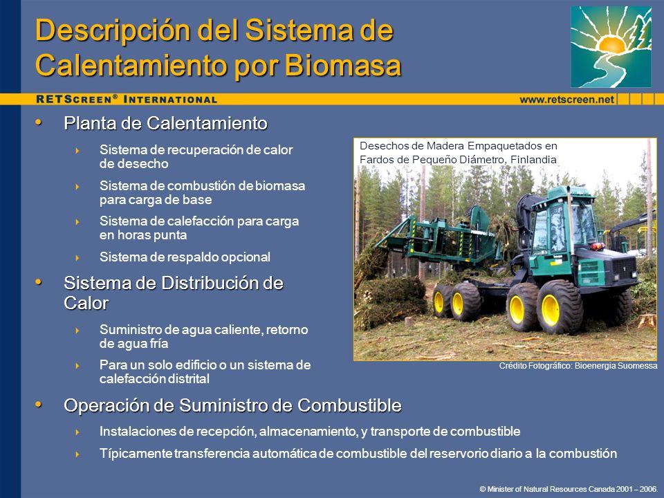 Descripción del Sistema de Calentamiento por Biomasa