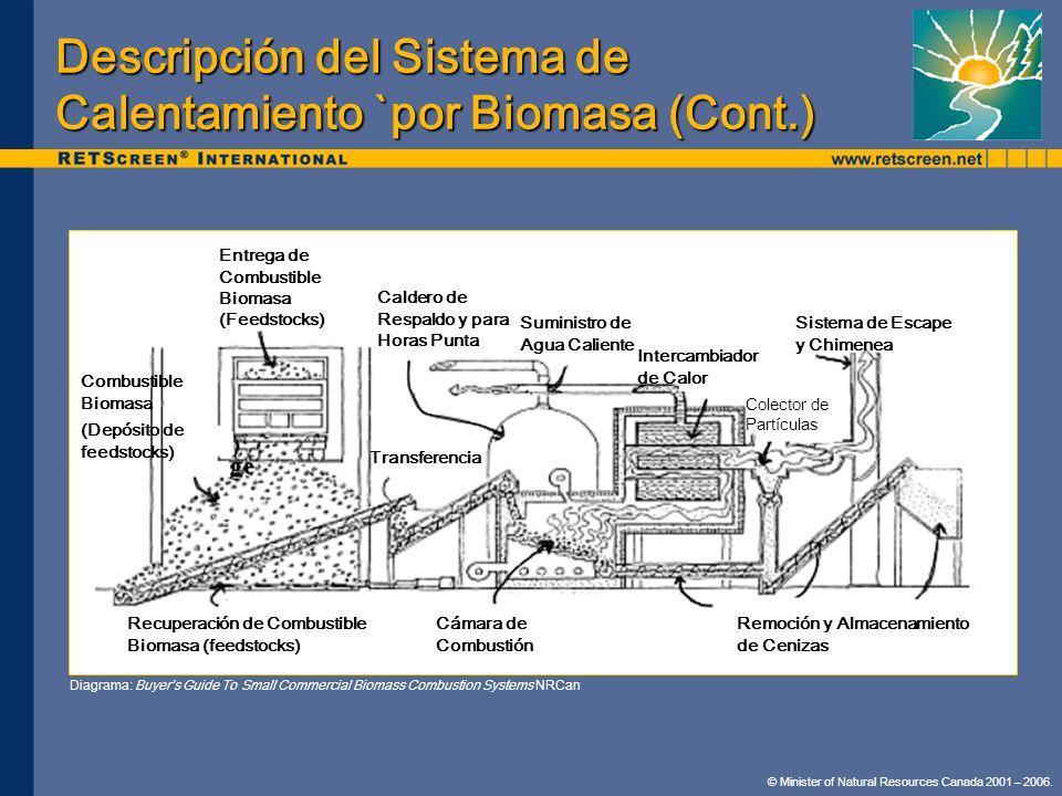 Descripción del Sistema de Calentamiento `por Biomasa (Cont.)