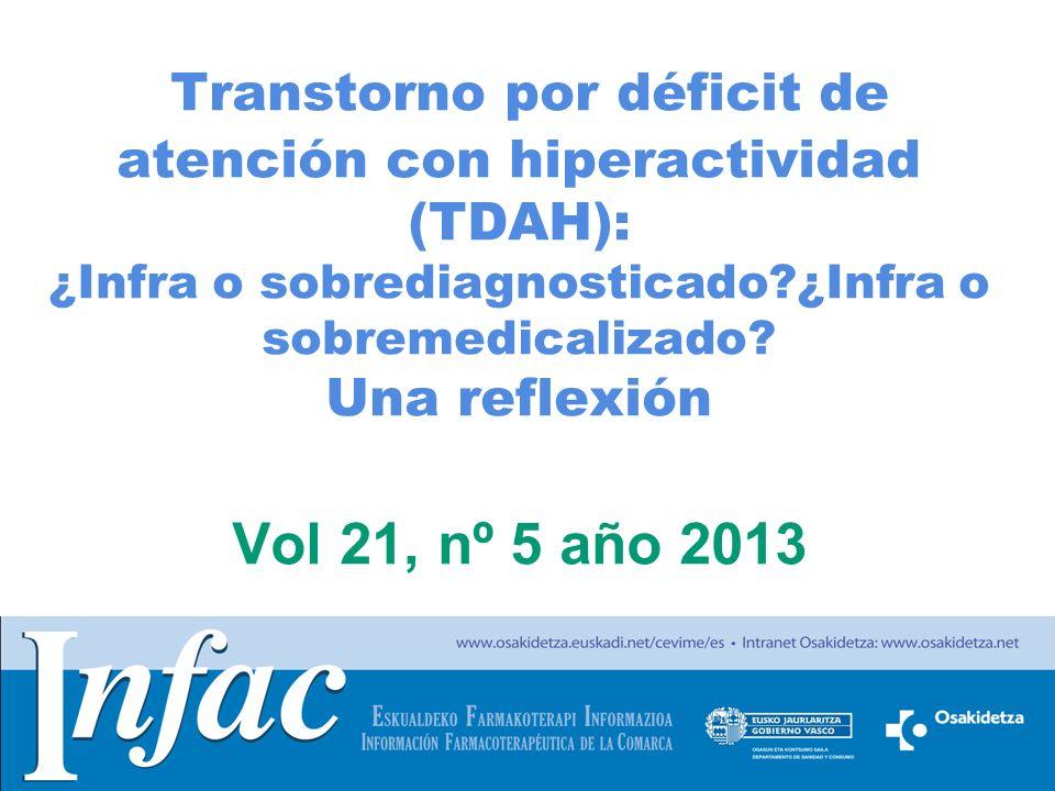 Transtorno por déficit de atención con hiperactividad (TDAH): ¿Infra o sobrediagnosticado ¿Infra o sobremedicalizado.