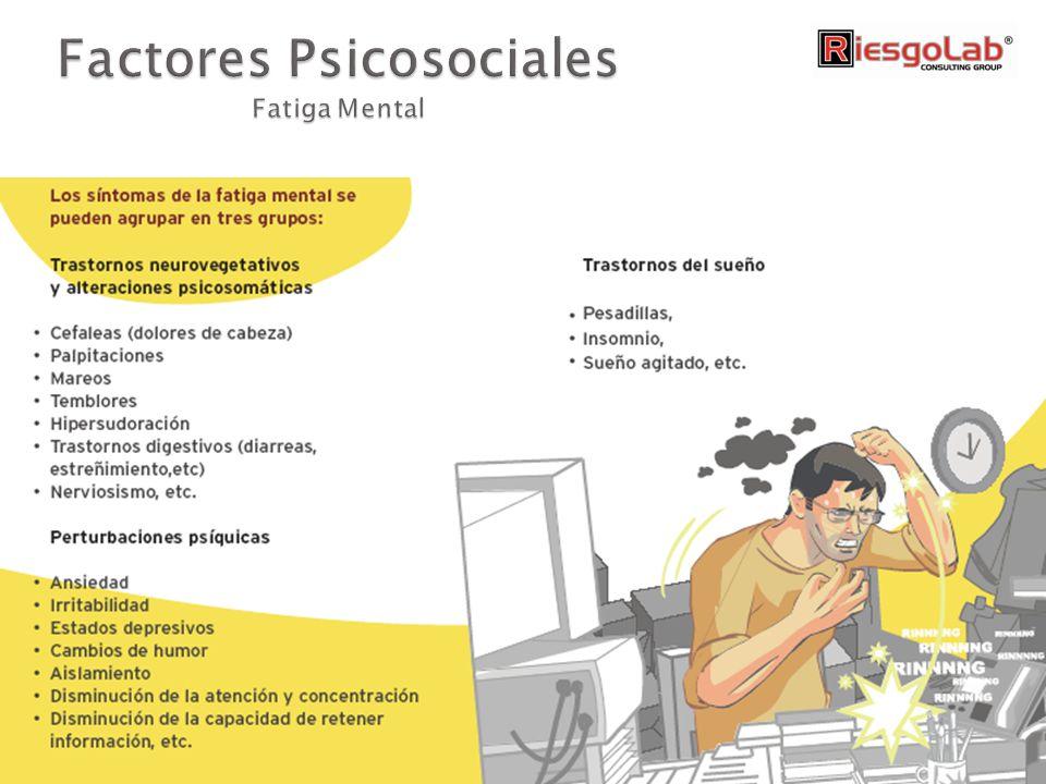 Factores Psicosociales Fatiga Mental