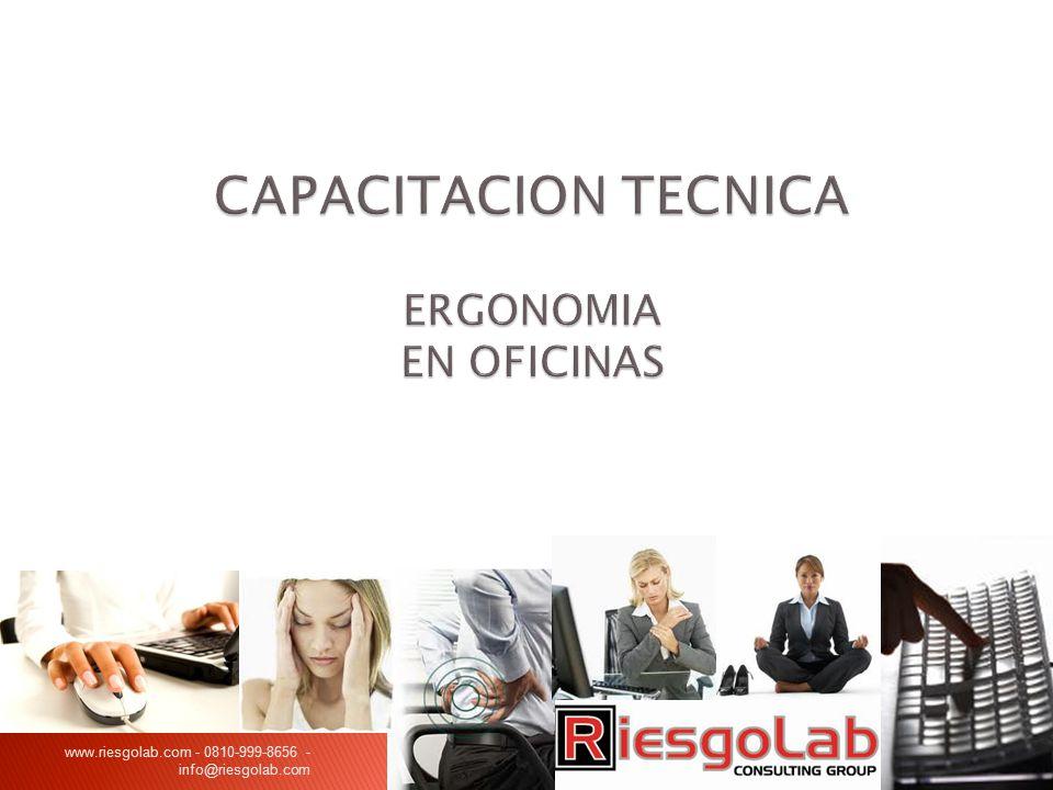 CAPACITACION TECNICA ERGONOMIA EN OFICINAS