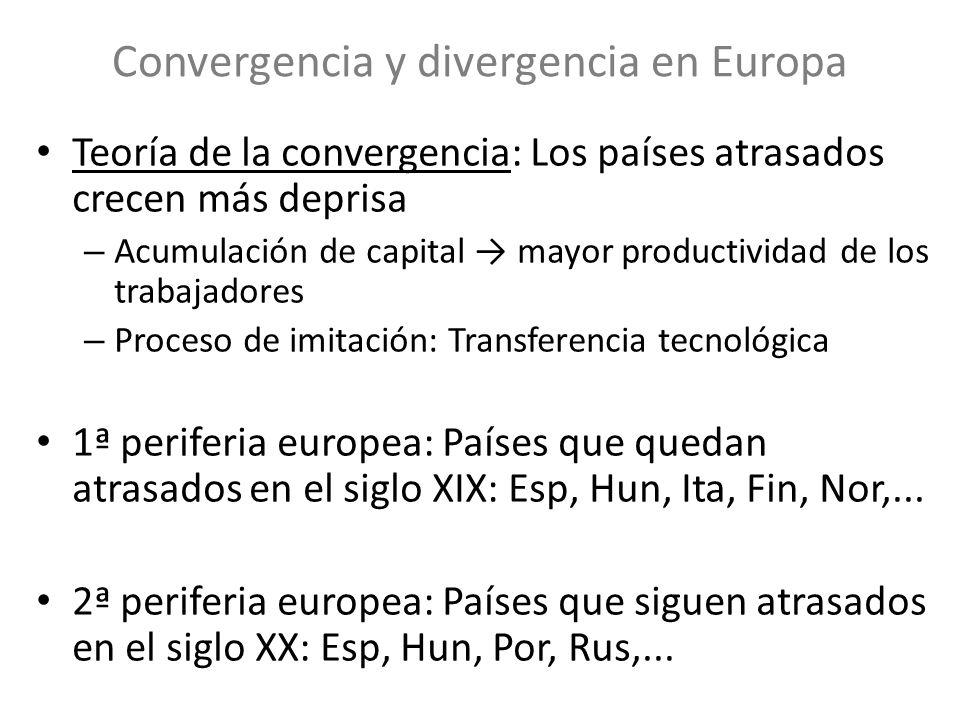 Convergencia y divergencia en Europa