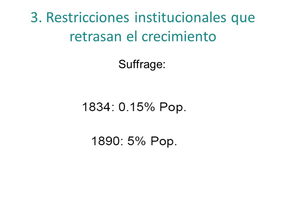 3. Restricciones institucionales que retrasan el crecimiento