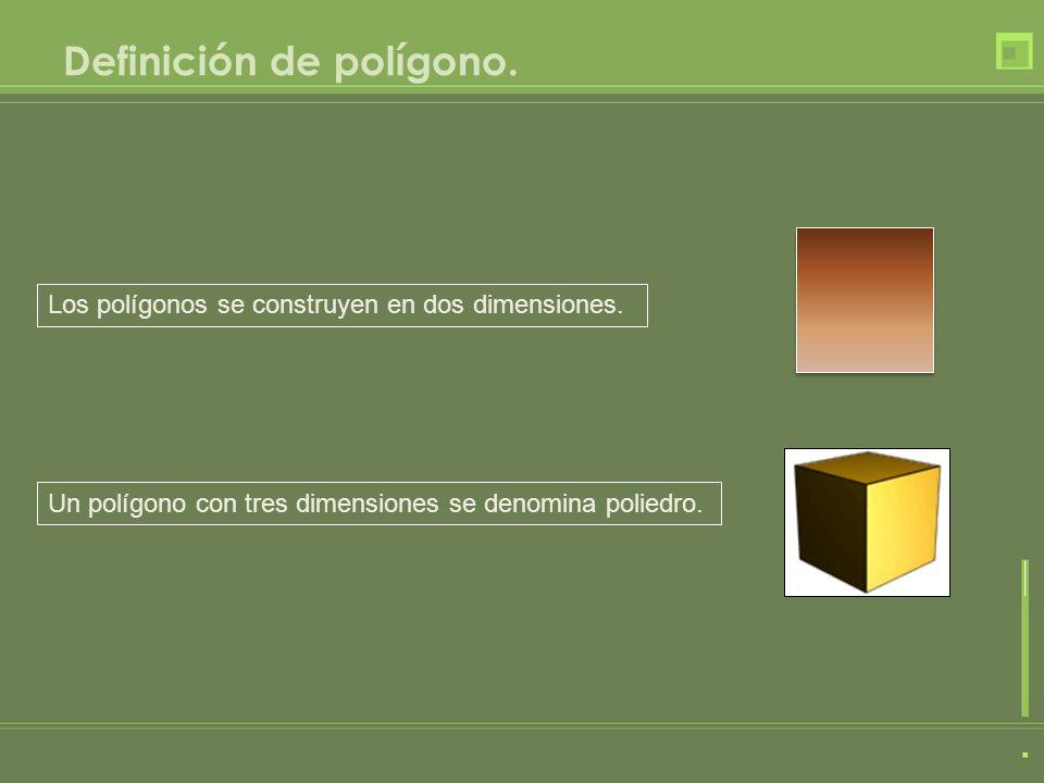 Definición de polígono.