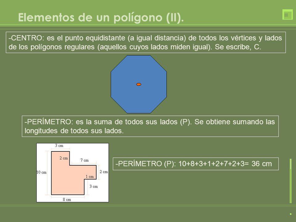 Elementos de un polígono (II).