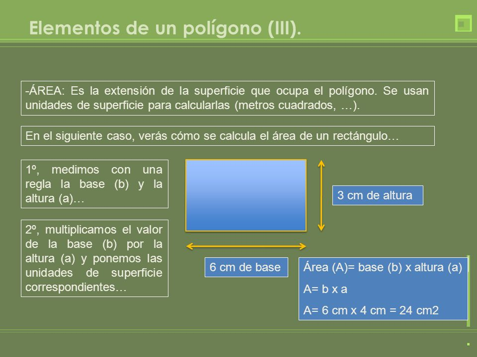 Elementos de un polígono (III).