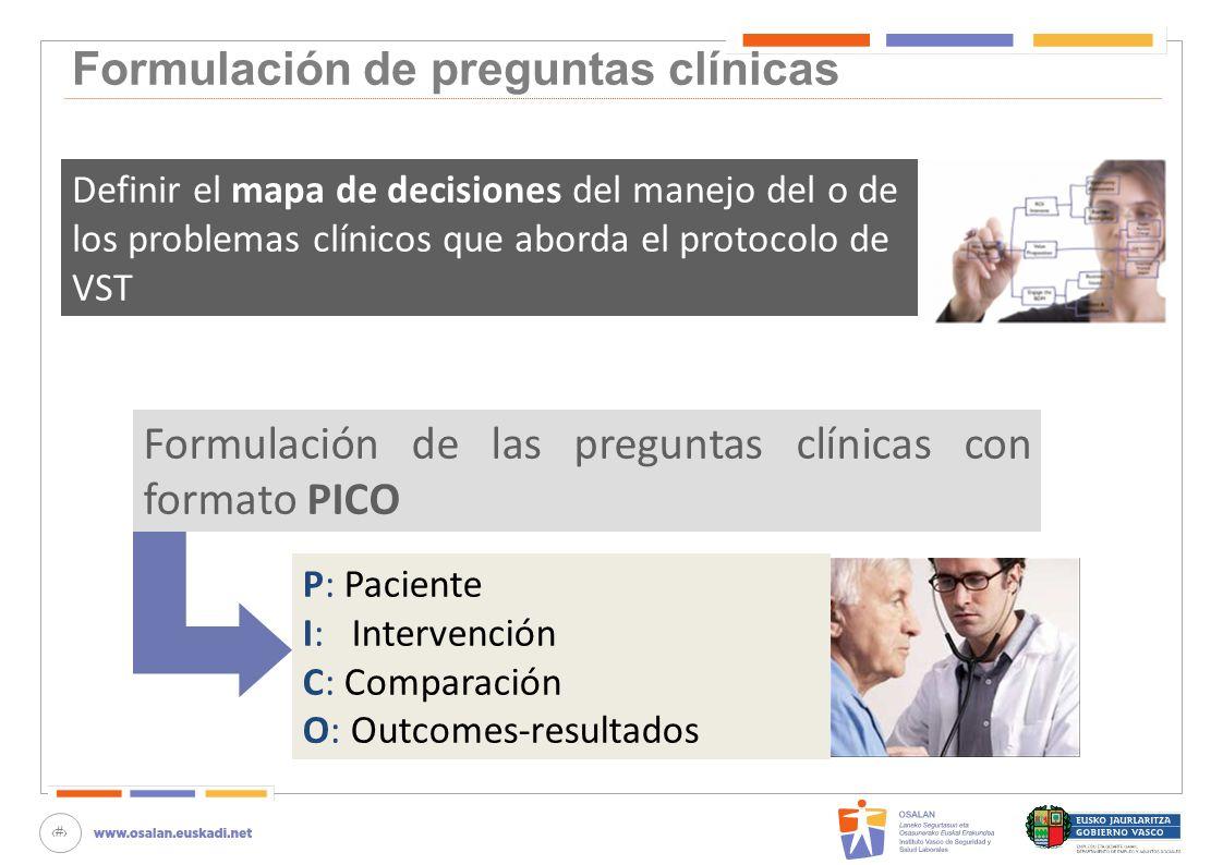 Formulación de preguntas clínicas