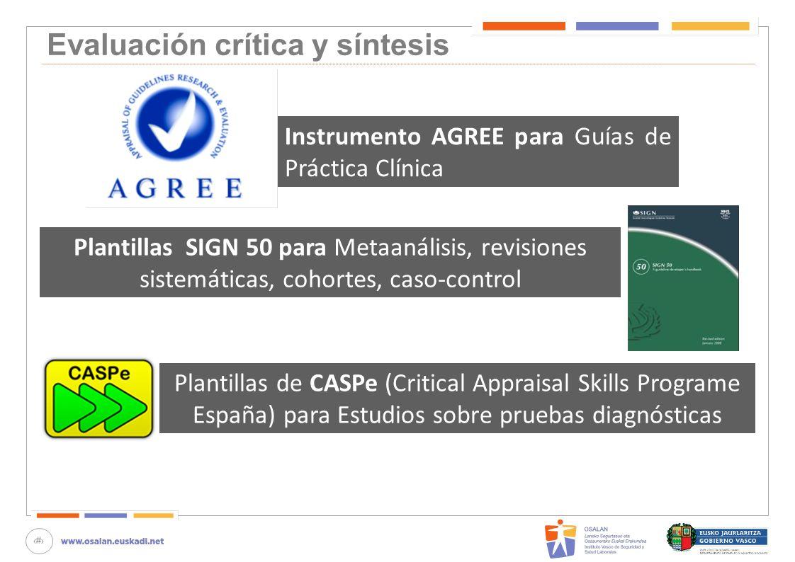Evaluación crítica y síntesis