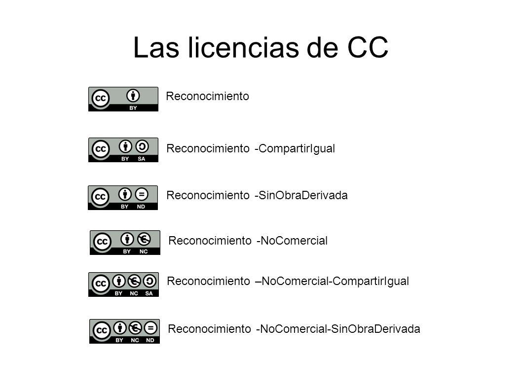 Las licencias de CC Reconocimiento Reconocimiento -CompartirIgual