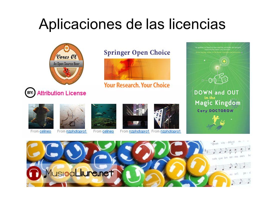 Aplicaciones de las licencias
