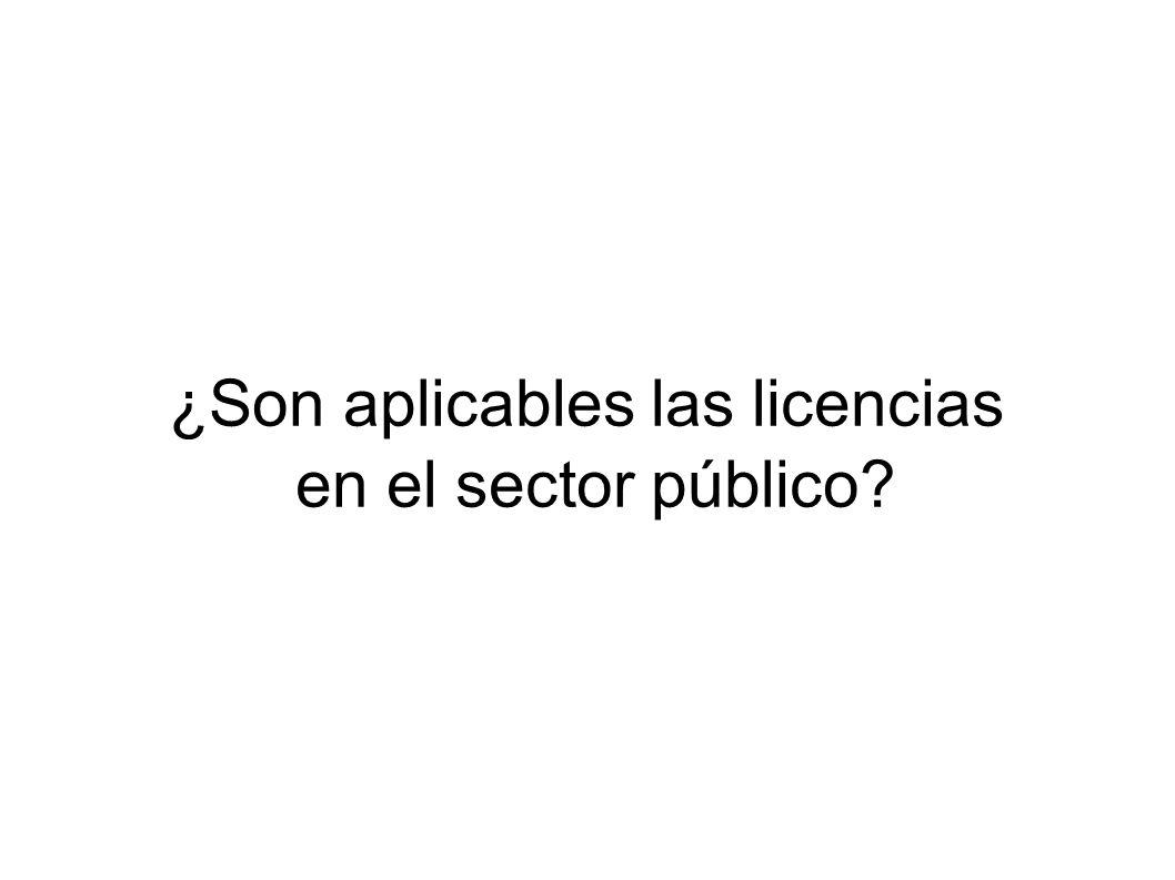 ¿Son aplicables las licencias en el sector público