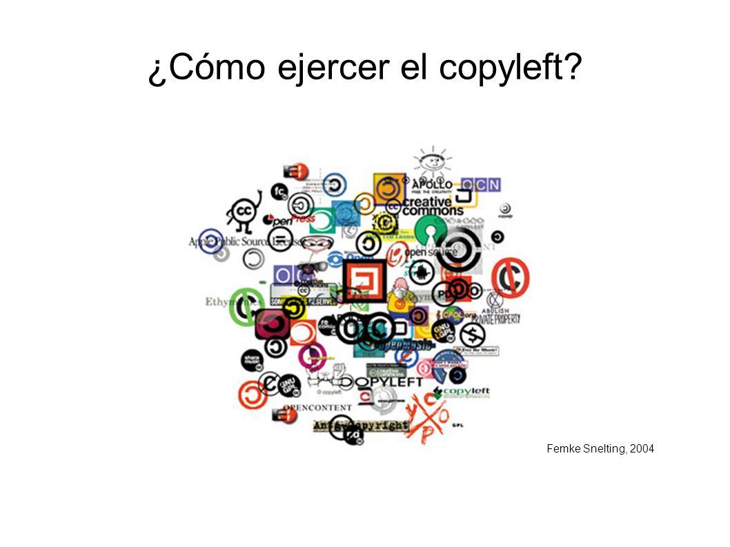 ¿Cómo ejercer el copyleft