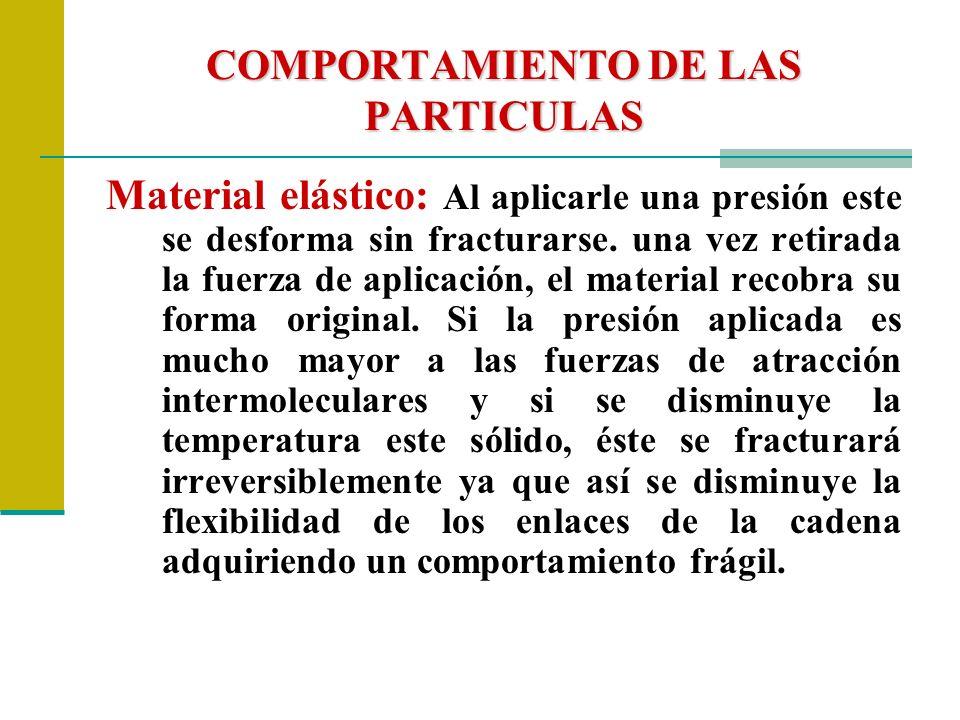COMPORTAMIENTO DE LAS PARTICULAS