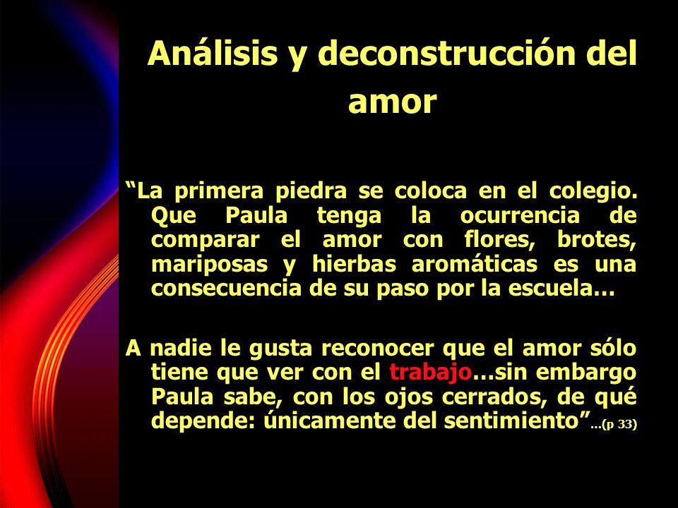 Análisis y deconstrucción del amor