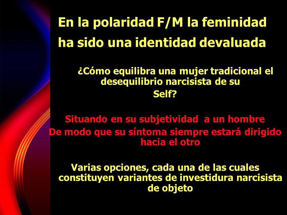 En la polaridad F/M la feminidad ha sido una identidad devaluada