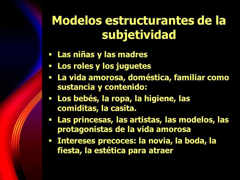 Modelos estructurantes de la subjetividad