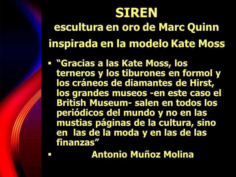 SIREN escultura en oro de Marc Quinn inspirada en la modelo Kate Moss
