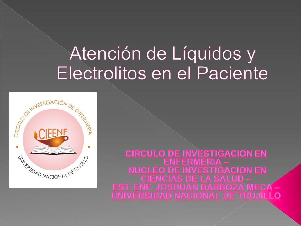 Atención de Líquidos y Electrolitos en el Paciente