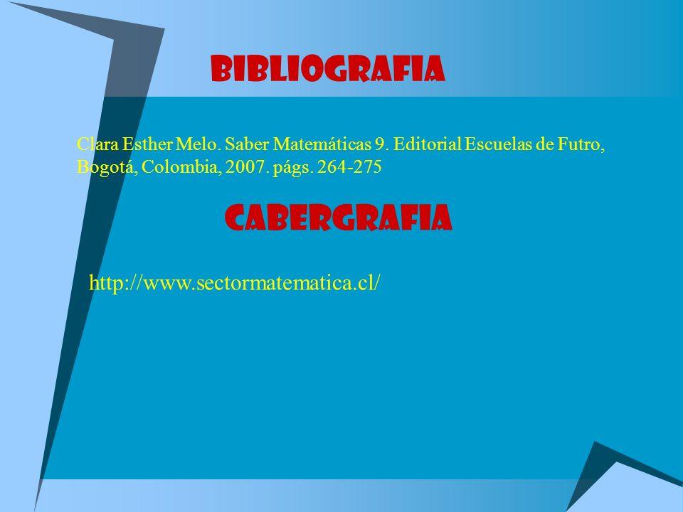 BIBLIOGRAFIA CABERGRAFIA http://www.sectormatematica.cl/