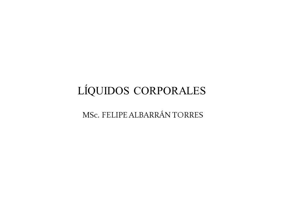 LÍQUIDOS CORPORALES MSc. FELIPE ALBARRÁN TORRES