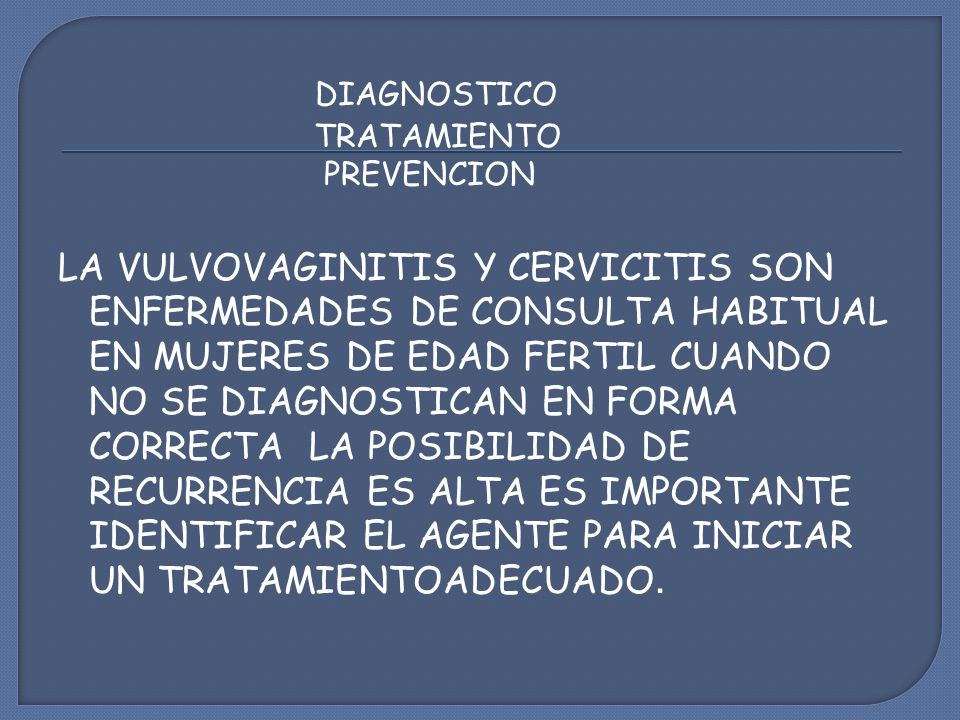 DIAGNOSTICO TRATAMIENTO. PREVENCION.