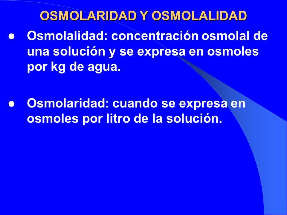 OSMOLARIDAD Y OSMOLALIDAD