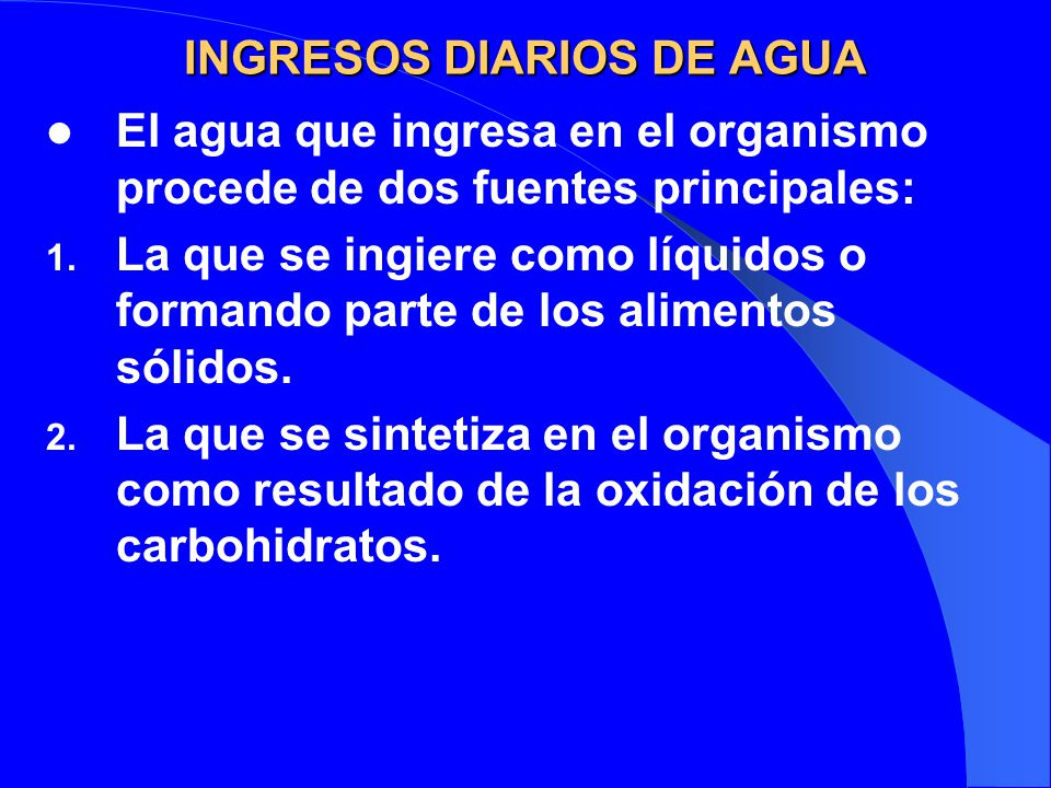INGRESOS DIARIOS DE AGUA