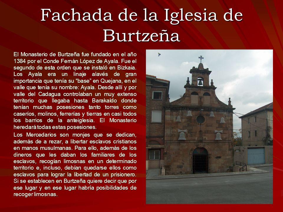 Fachada de la Iglesia de Burtzeña