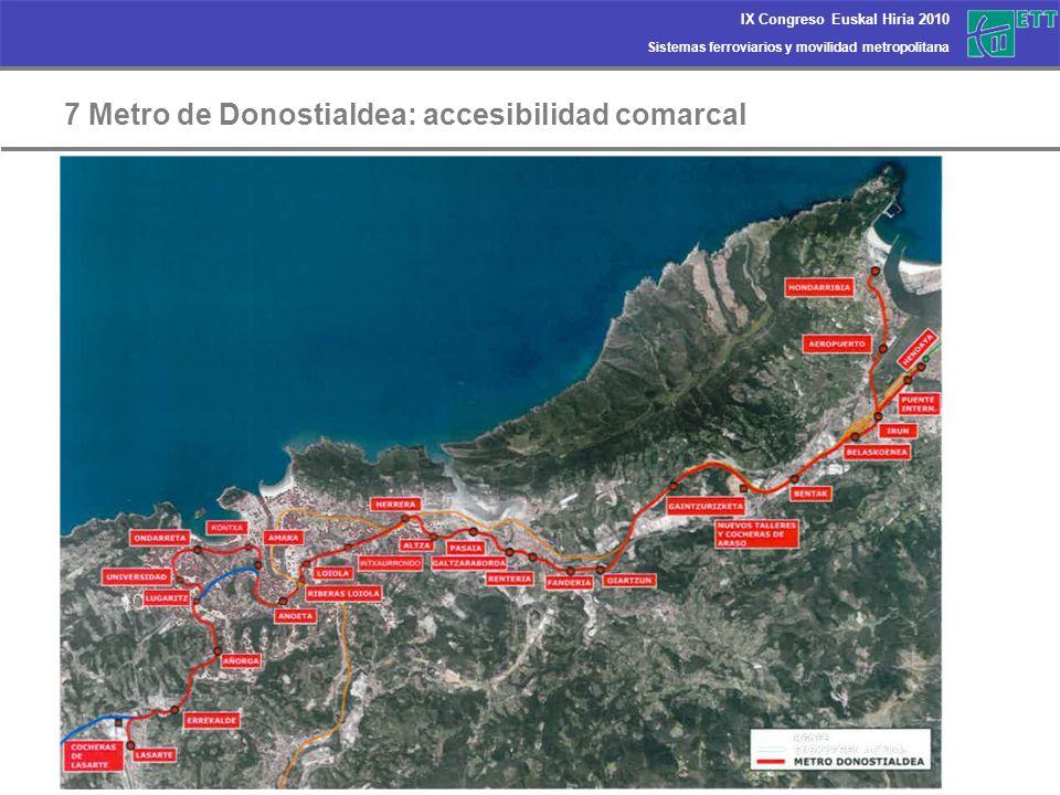 7 Metro de Donostialdea: accesibilidad comarcal