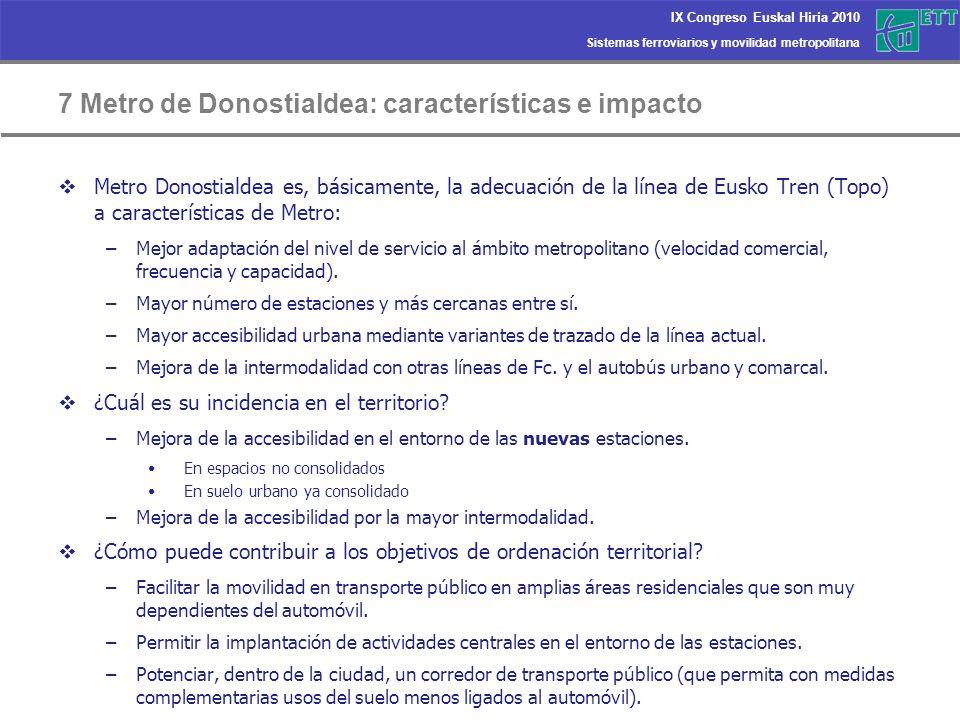 7 Metro de Donostialdea: características e impacto
