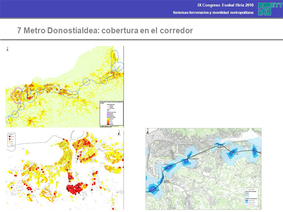 7 Metro Donostialdea: cobertura en el corredor