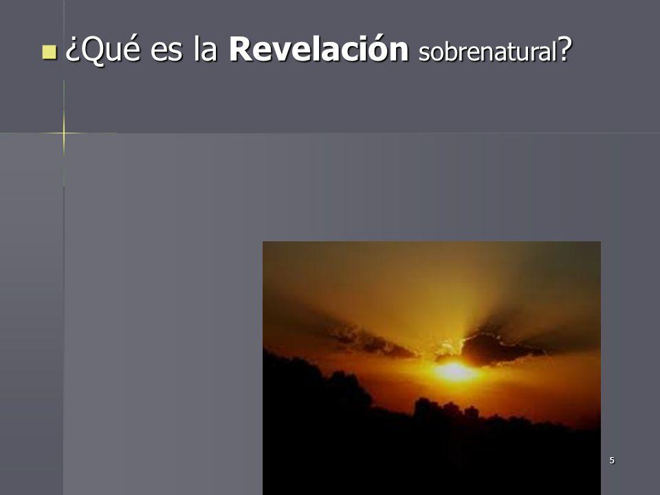 ¿Qué es la Revelación sobrenatural