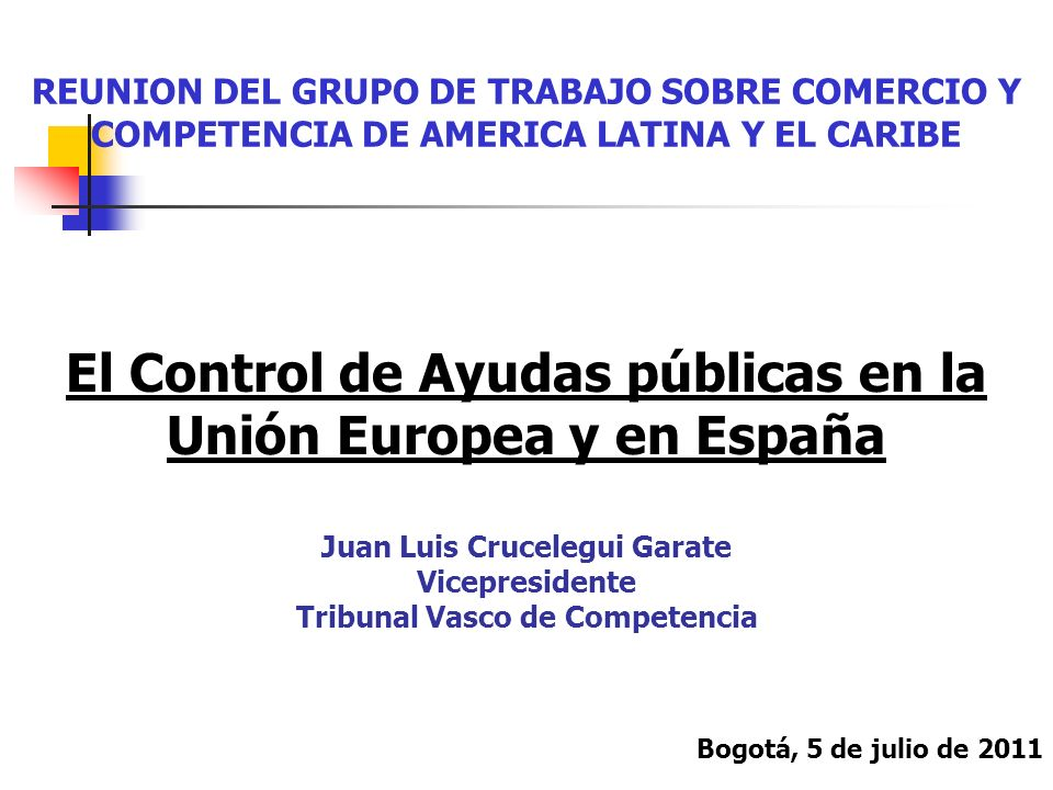 El Control de Ayudas públicas en la Unión Europea y en España