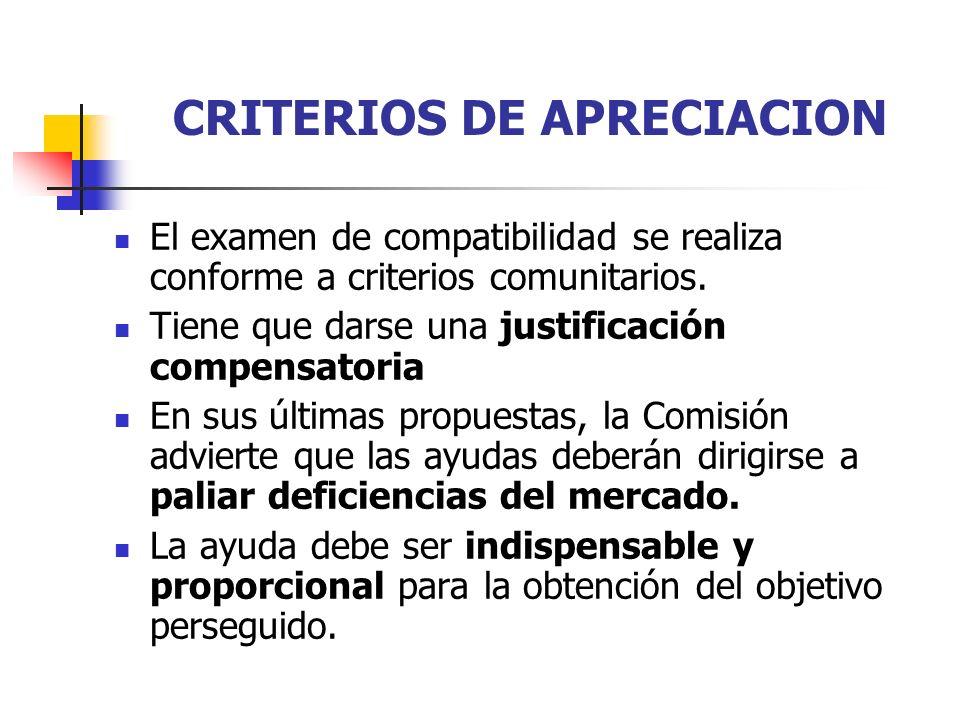 CRITERIOS DE APRECIACION
