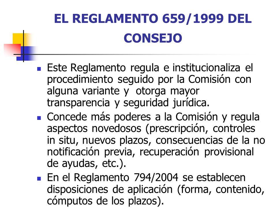 EL REGLAMENTO 659/1999 DEL CONSEJO